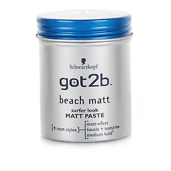 Schwarzkopf Got2b Strand Matt Surfer Look Matt Paste 100ml