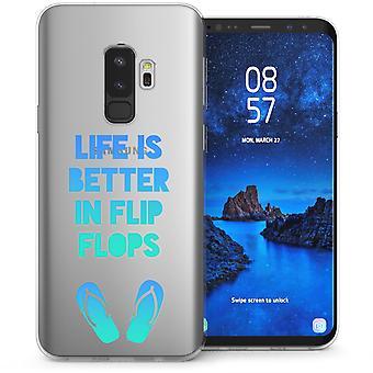 S9 Samsung Галактика плюс шлепки смешные цитаты ТПУ геля - синий