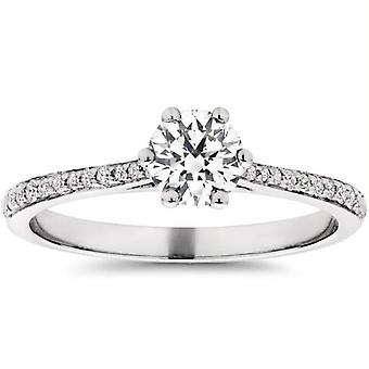 Eco Friendly 5 / 8ct Lab créé Diamond Engagement Ring 14K White Gold