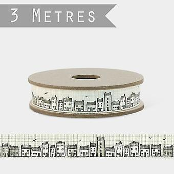 East of India TERRACE OF HOUSES Cottage Ribbon 3m Craft
