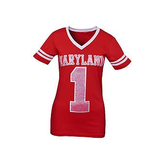 Maryland Terrapins NCAA casella stampa scollo a v Jersey Tee