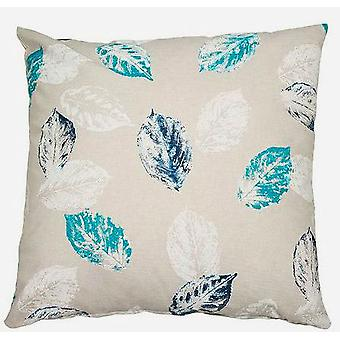 Bigbuy Cushion Leaves Blue Jungle Collection 45 X 45 Cm