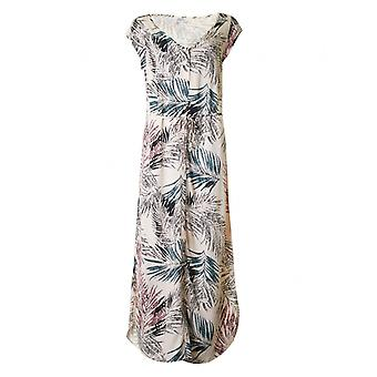 Saint Tropez Palm Print langes Kleid