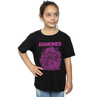 Ramones Girls High School Mädchen lila T-Shirt