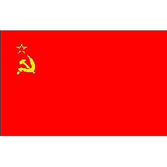 Sovjetunionens Flag 5 ft x 3 ft (100% Polyester) med øjer til ophæng