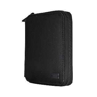Replay borsa moneta borsa portafoglio denim cuoio nero 5341