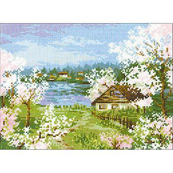 Apple Blossoms Counted Cross Stitch Kit-9.5