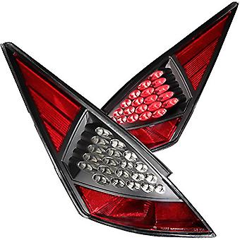 Anzo USA 321099 Nissan 350Z Black LED Tail Light Assembly - (Sold in Pairs)
