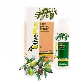 Face peeling cream with olive stones 50ml.