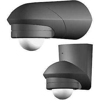 Grothe 94533 Surface-mount PIR motion detector 120 ° Relay Black IP55