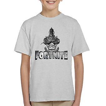 Fornite Silver Knight Grey Font Kid's T-Shirt