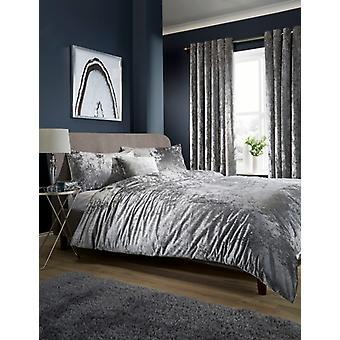 Crushed Velvet Luxurious Fancy Duvet Quilt Cover Bedding Set with Pillow Cases