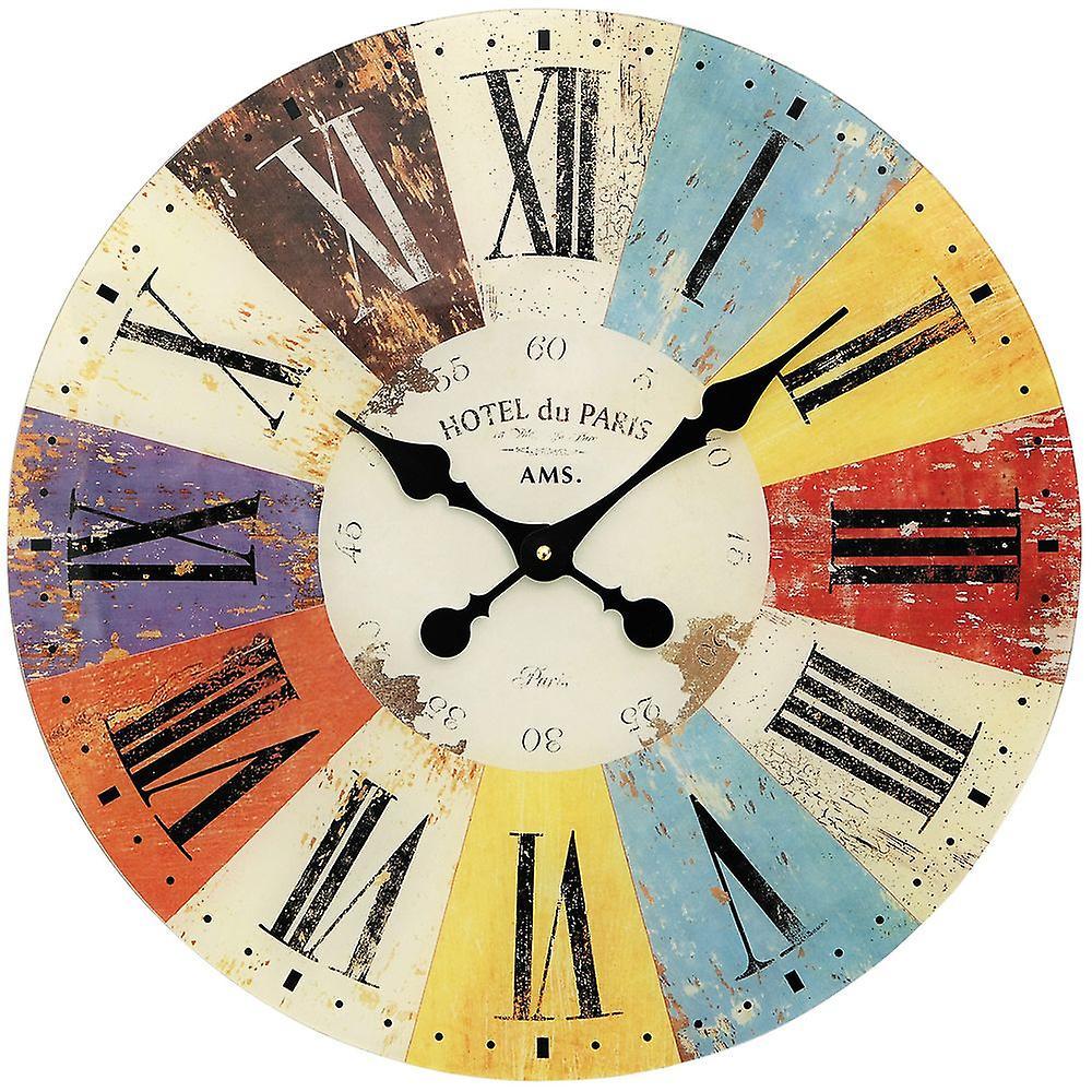 Horloge Quartz Murale Coloré Mur Cristal Minéral Imprimé sCtQxBhrd
