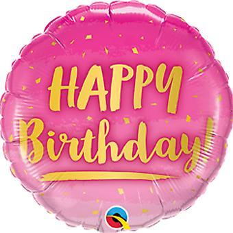 Qualatex 18 Inch Birthday Round Foil Balloon