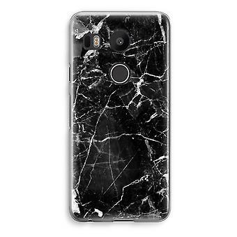 LG Nexus 5X Transparent Case - Black Marble 2