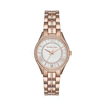 Michael Kors Watches Mk3716 Rose Gold & Silver Dial Ladies Stainless Steel Watch