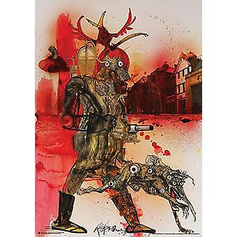 Ralph Steadman poster hell Hound Fahrenheit 451