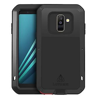 Love Mei powerful hybrid shockproof case Galaxy A6Plus, screen protector - Black