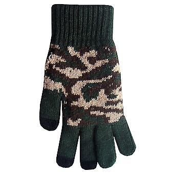 Boss-Tech Touchscreen-Handschuhe, Texing, Tech Handschuhe (Green Camo)