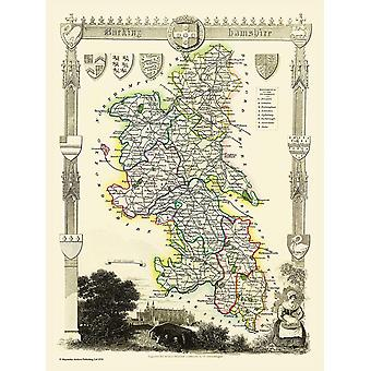 Map of Buckinghamshire 1836 by Thomas Moule 1000 Piece Jigsaw Puzzle (jg)
