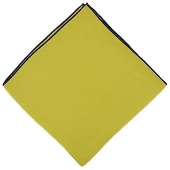 Eingewandt von London Shoestring Grenze Taschentuch - gelb/Marineblau