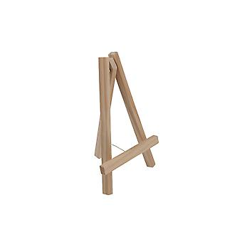 Small 16cm Natural Wood Easel Display Stand for Weddings & Crafts