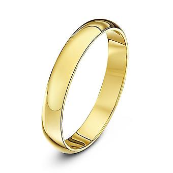 Star Wedding Rings 9ct Yellow Gold Extra Heavy D Shape 3mm Wedding Ring