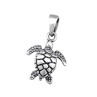 Turtle - 925 Sterling Silver Plain Pendants - W34671x