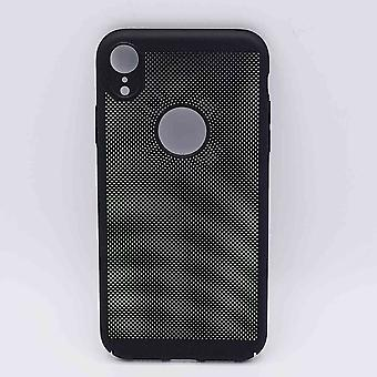 For IPhone XR case-metal wire mesh look-black