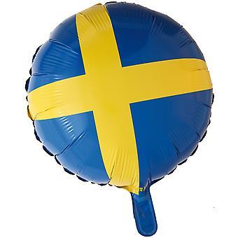 De Zweedse vlag Folieballong
