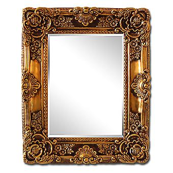 Inner dimensions 29x40 cm, beautiful frame in gold