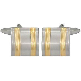 David Van Hagen curvado líneas gemelos - oro/plata