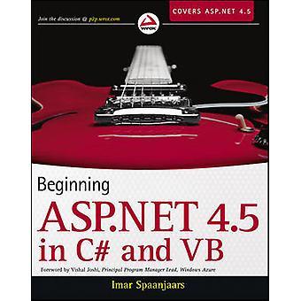 Beginning ASP.NET 4.5 - in C# and VB by Imar Spaanjaars - 978111831180