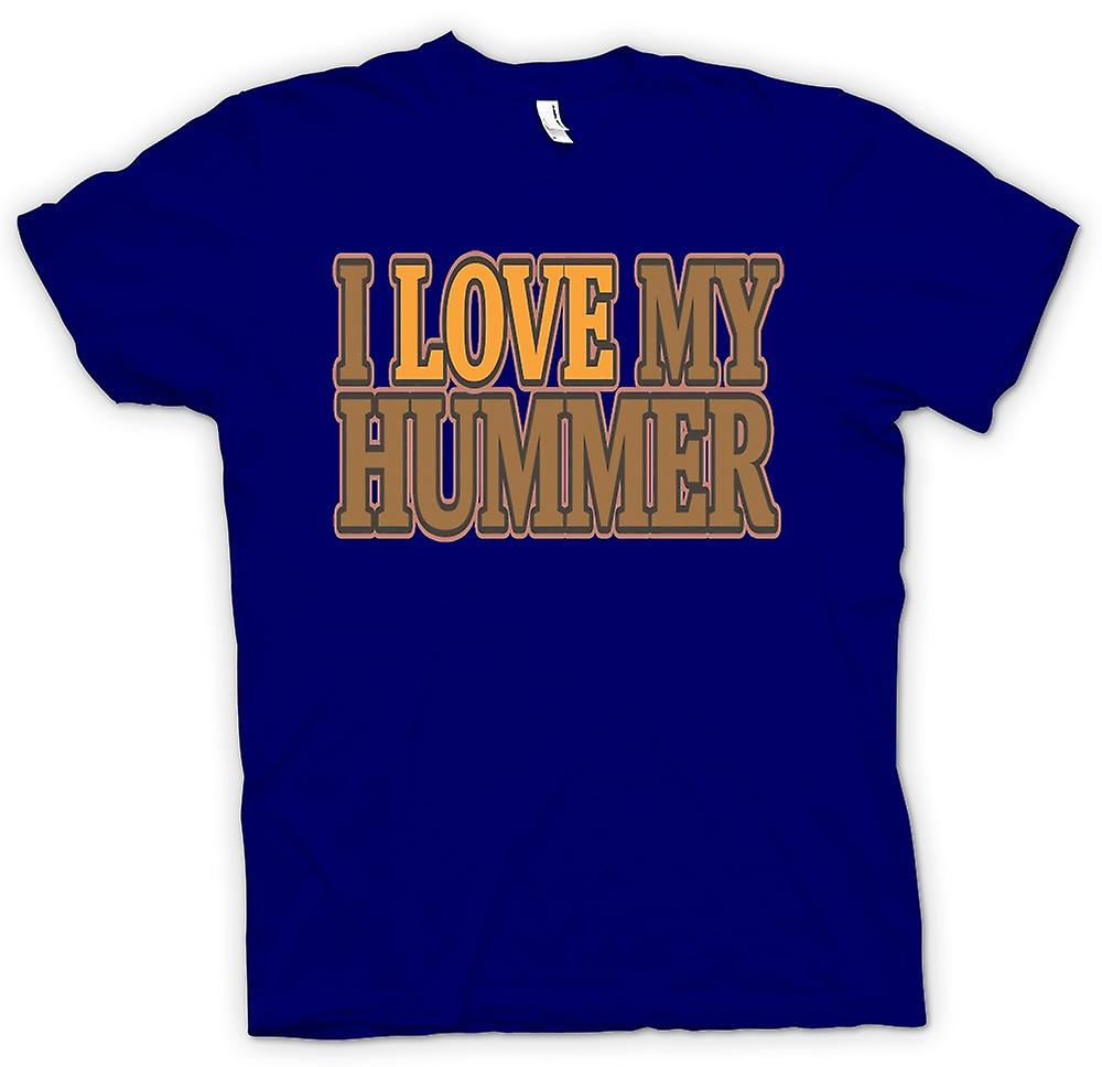 Mens T-shirt - I Love My Hummer - Car Enthusiast