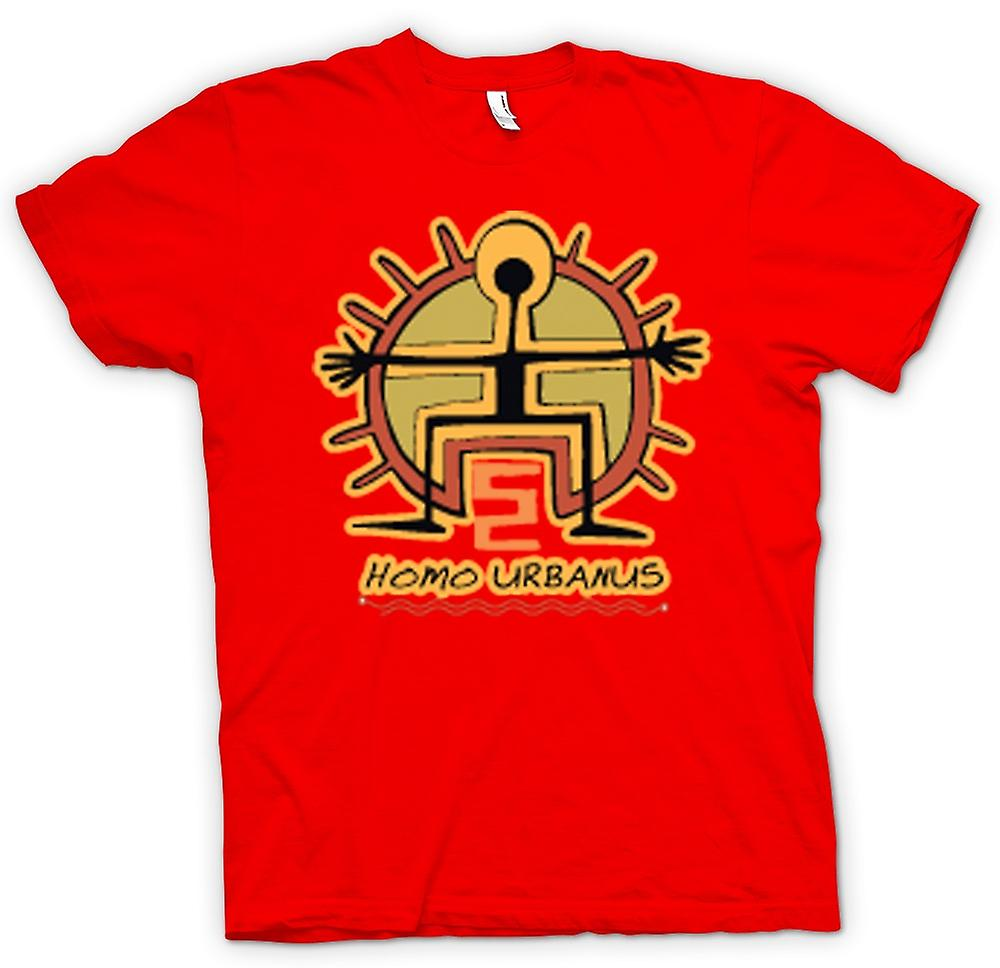 Mens T-shirt - Homo Urbanus Caveman Design