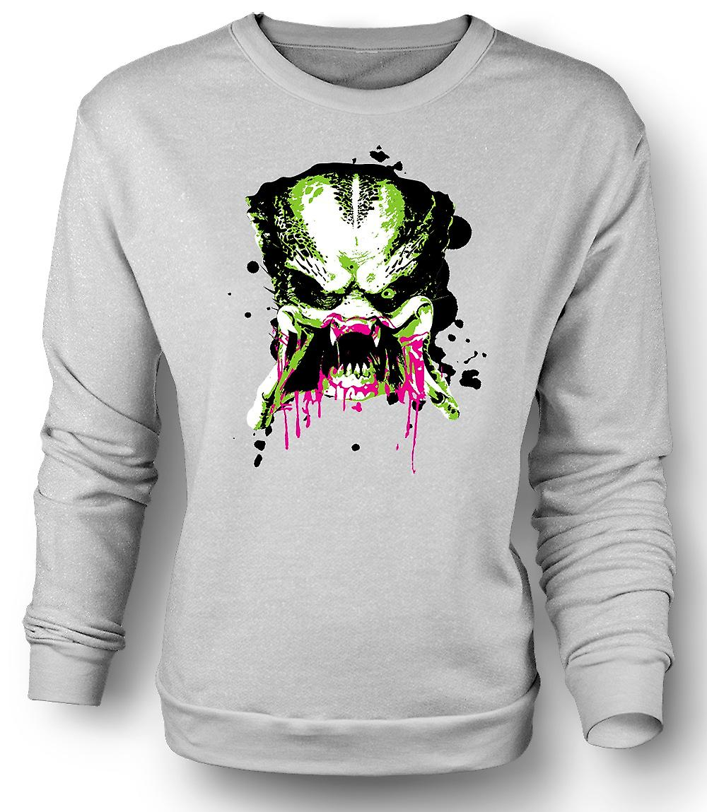 Mens Sweatshirt Predator Alien - Pop Art - visage - film