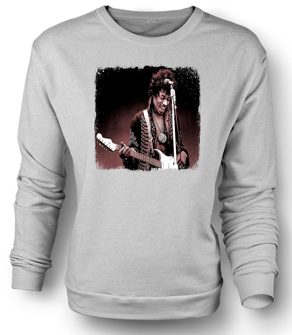 Mens Sweatshirt Jimi Hendrix - Sepia - portret