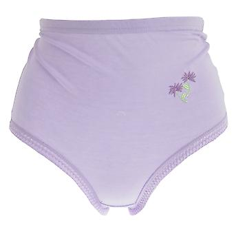 Passionelle Womens/Ladies Pastel Floral Embroidery Cotton Briefs (Pack Of 3)