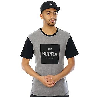 Supra Grey Heather-Black International T-Shirt