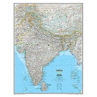 Classic Indii, z dętkami ścienne mapy krajów & regionów (odwołanie - idealna regionów krajów)