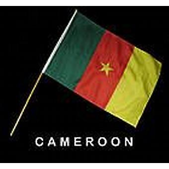 Cameroon Hand Held Flag