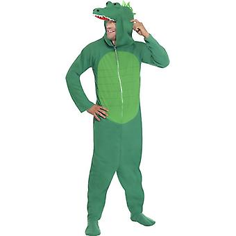 Mens groene krokodil Fancy Dress kostuum