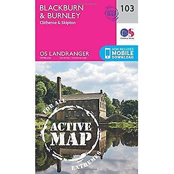 Blackburn & Burnley, Clitheroe & Skipton (OS Landranger Map)