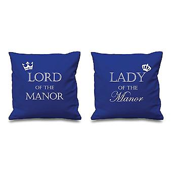 Lord Of The Manor Lady Of The Manor Blue Cushion Covers 16