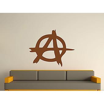 Anarchy Symbole Wall Art autocollants - Brown