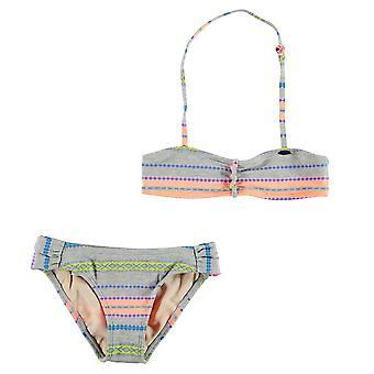 ONeill dzieci dziewczyny przędzy barwnika Bikini Junior wzór zestaw Stretch drukuj elastyczny