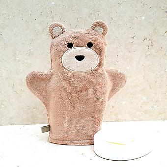 Toffee Teddy bath mitt