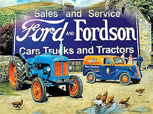 Fordson and Fordson (ls farmyard scene) metal sign  (og 2015)