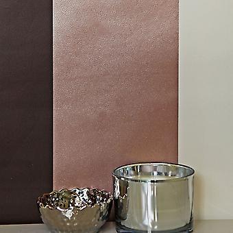 Stribe tapet vandrette lodrette metallisk kobber chokolade creme luksus