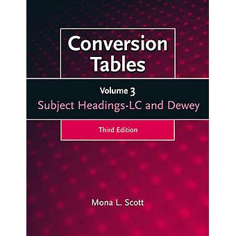 Conversion Tables Volume 3 Subject Headings LC and Dewey by Scott & Mona L.